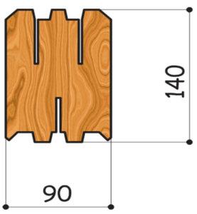 сечение бруса 90 на 140