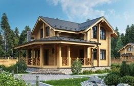 Дом-баня из клееного бруса «Дмитров» 10,7х9,5м 135м²