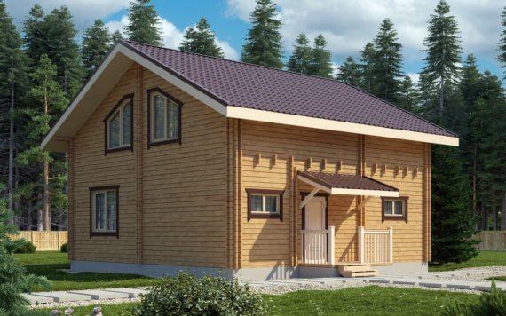 Дом из двойного бруса «Тампере» 8,5х8м 139м²
