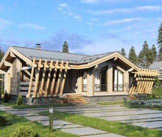 Дом из клееного бруса «Звенигород» 9,5х15м 134м²