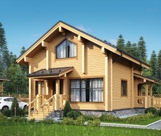 Дом из клееного бруса «Можайск» 9,4х8,4м 140м²