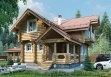 Дом из оцилиндрованного бревна «Анастасия» 6х9м 95м²
