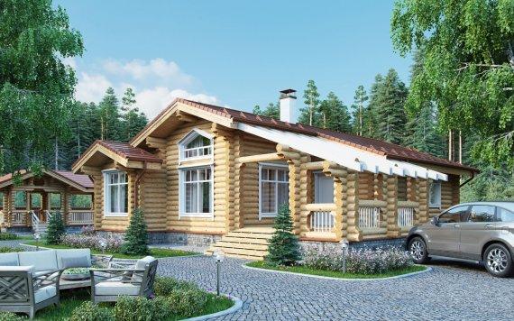 Дом из оцилиндрованного бревна «Марина» 14х12м 119м²