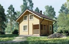 Дачный дом «Семейный» 6,5х6м
