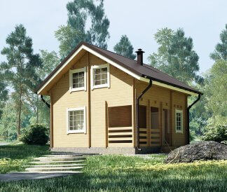 Дачный дом из бруса «Семейный» 6,5х6м 74м²