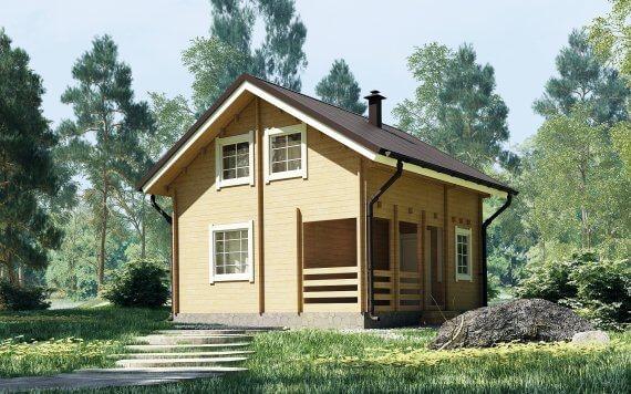 Дачный дом из бруса «Семейный» 6,5х6м 78м²