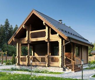 Дом из оцилиндрованного бревна «Екатерина» 6х9м 94м²