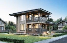 Дом из клееного бруса «Видное» 10,5х9м 139м²