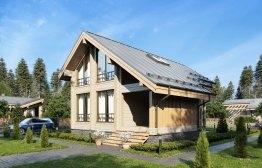 Дом из клееного бруса «Пересвет» 9х11,9м 128м²