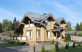 Дом из клееного бруса «Одинцово» 12х10,5м 166м²