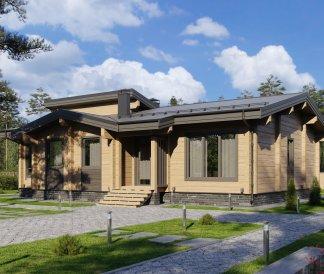 Дом из клееного бруса «Жуковский» 12,6х14,7м 164м²