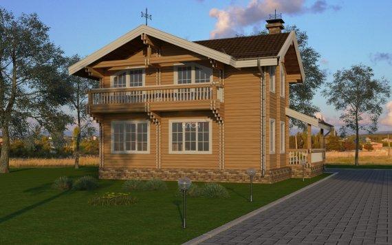 Дом из двойного бруса «Кострома» 9Х9м 1
