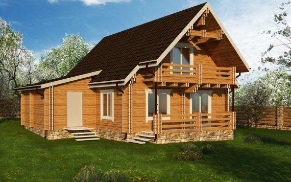 Дом из двойного бруса «Нерль» 10,2Х9,3м 151м² 1