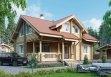 Дом из оцилиндрованного бревна «Варвара» 9х10,6м 154м²