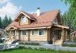 Дом из оцилиндрованного бревна «Кристина» 13,4х9,4м 144м²