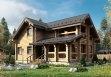 Дом из оцилиндрованного бревна «Елизавета» 8х12м 152м²