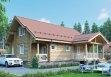 Дом из оцилиндрованного бревна «Дарья» 11,7х11,7м 157м²
