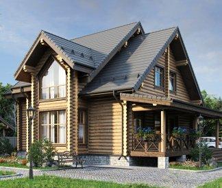 Дом из оцилиндрованного бревна «Яна» 11,6х13,25м 168м²