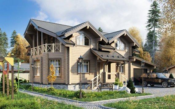 Дом из клееного бруса «Коломна» 11,8х15,2 200м²