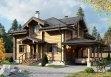 Дом из оцилиндрованного бревна «Наталина» 13х16,3м 247м²