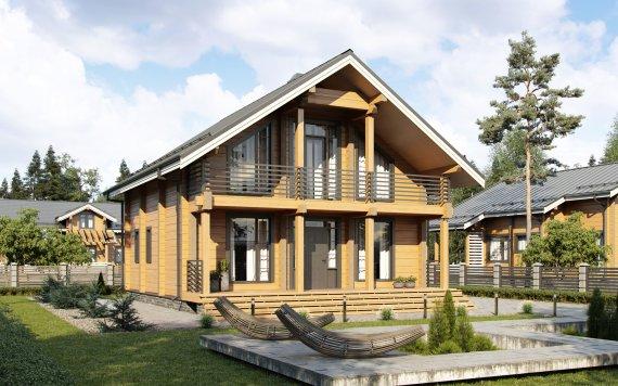 Дом из клееного бруса «Ясенево» 8,8х10м 158м²