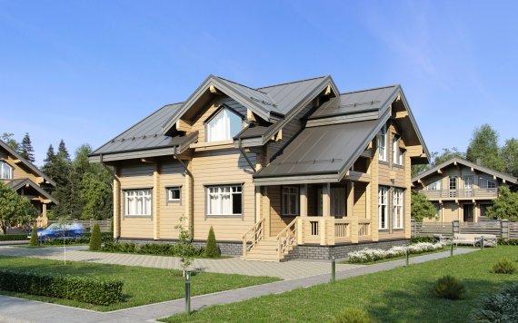Дом из клееного бруса «Черемушки» 8,3х13,3 166м²