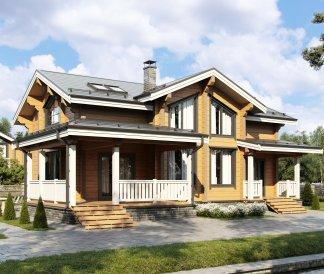 Дом из клееного бруса «Онега» 13,2х14,2 200м²