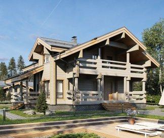 Дом из клееного бруса «Березина» 11,7х12 217м²