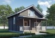 Дом из бруса «Мечта дачника» 6х6м с верандой 1,5х6м 81м²